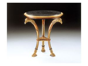 Art. 1412 Altair, Tallada mesa de centro de madera, encimera de mármol, por suite