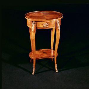 Art. 142/C Ciliegio, Mesa auxiliar ovalada en madera de cerezo