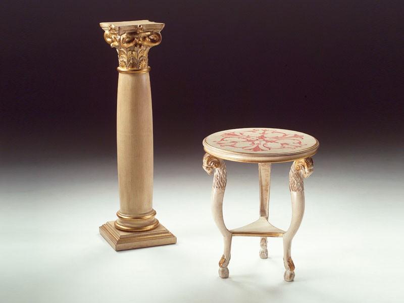 Art. 1460 Rams, Pequeña mesa redonda de madera, clásico, para sala de estar