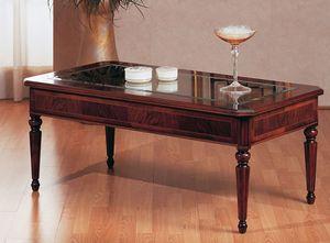 Art. 229, Mesa tradicional café, de lujo, con tapa de cristal, para Villa