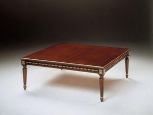 Art. 261/Q, Pequeña mesa clásica en madera tallada, para sala de estar