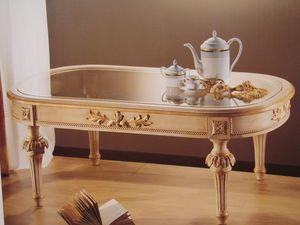 Art. 2803, Mesa ovalada para las obras clásicas salas de estar, tapa de cristal