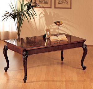 Art. 294/R, Mesa de madera, patas talladas, para la decoración del hogar clásico