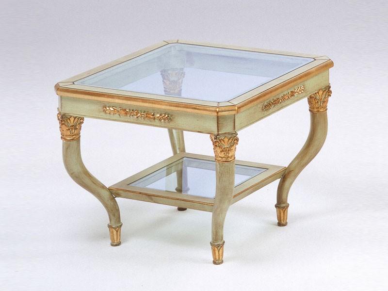 Art. 302 Mida, Mesa de café elegante tallado, para hotel de lujo