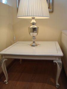 Art. 316, Mesa de centro de madera para sala de estar clásico, lacado, plata