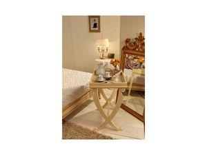 Art. 3301, Mesa de centro de madera de haya, tapa de cristal, para las obras clásicas salas de estar