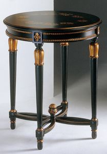 Art. 535/AN Anastasya, Mesa de centro tallada, de estilo Luis XVI, para la sala de estar