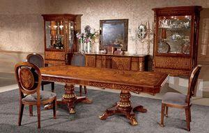 Art. 615/R, Mesa rectangular de madera, con incrustaciones, en estilo clásico