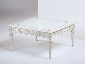 Art. 910 Decò, Cuadrada hecha a mano mesa de café, de clásico hotel