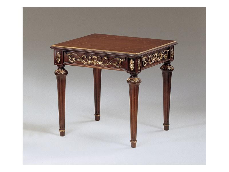 Art. 911 Decò, Pequeñas mesas clásicas en madera tallada, para pasillo de lujo