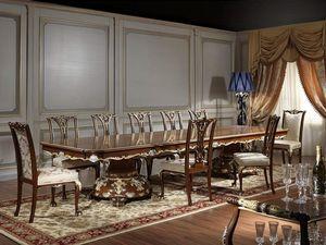 Art. 951/3 mesa Luigi XV, Majestic mesa de comedor, estilo Luis XV