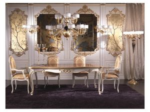 Art.952, Mesa de comedor de lujo con adornos de oro