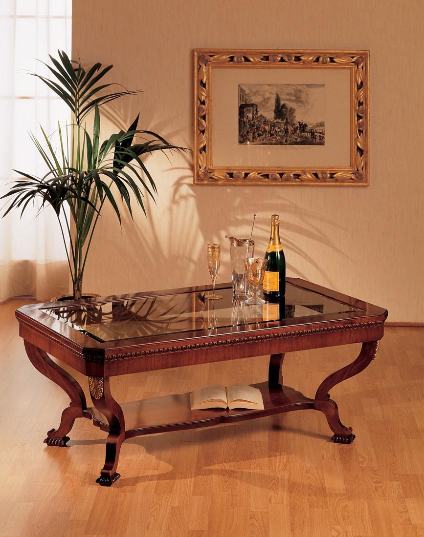 Art. 962/R, Pequeña mesa de estilo clásico, de lujo, en madera tallada a mano