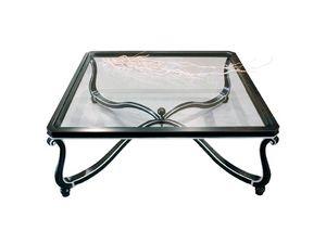 Art. 999, Preciosamente decorada pequeña mesa, tapa de cristal