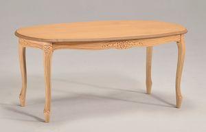 BRIANZOLO café oval mesa 8075T, Mesa de centro ovalada en madera de haya, para la zona de conversación
