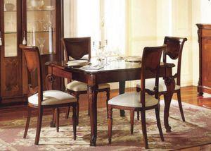 Canova mesa cuadrada, Cuadrada extensible mesa, incrustaciones y pulido