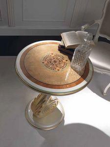 Chiocciola mesa pequeña, Mesita con detalles en pan de oro.