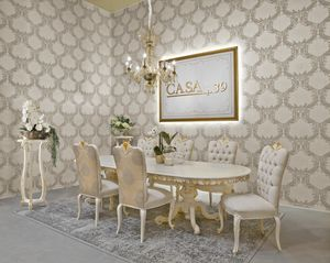 Diamante Art. 2622, Mesa de estilo clásico, tapa ovalada