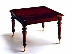 Dickens, Mesa cuadrada en estilo clásico, extensible