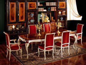 Display table 829, Mesa de comedor de madera, de estilo clásico de lujo