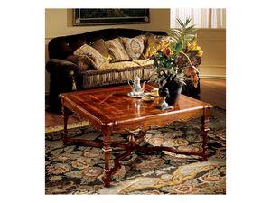Elena coffee table 769, Mesa de centro de lujo con tapa incrustada