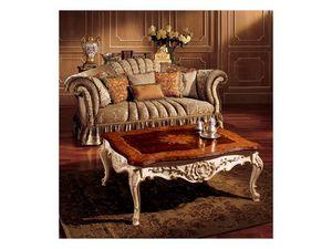 Emanuela coffee table 800, Mesa de café preciosa con adornos hechos a mano