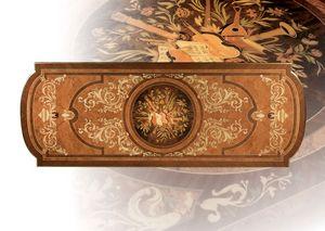 F500 Table, Mesa en madera tallada a mano sólida, por Estancias