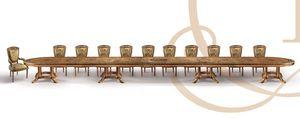 F979/A mesa, Personalizable mesa de lujo clásico en madera tallada