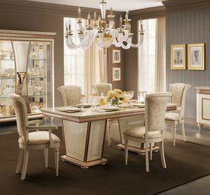 Fantasia mesa rectangular, Elegante mesa de comedor, extensible