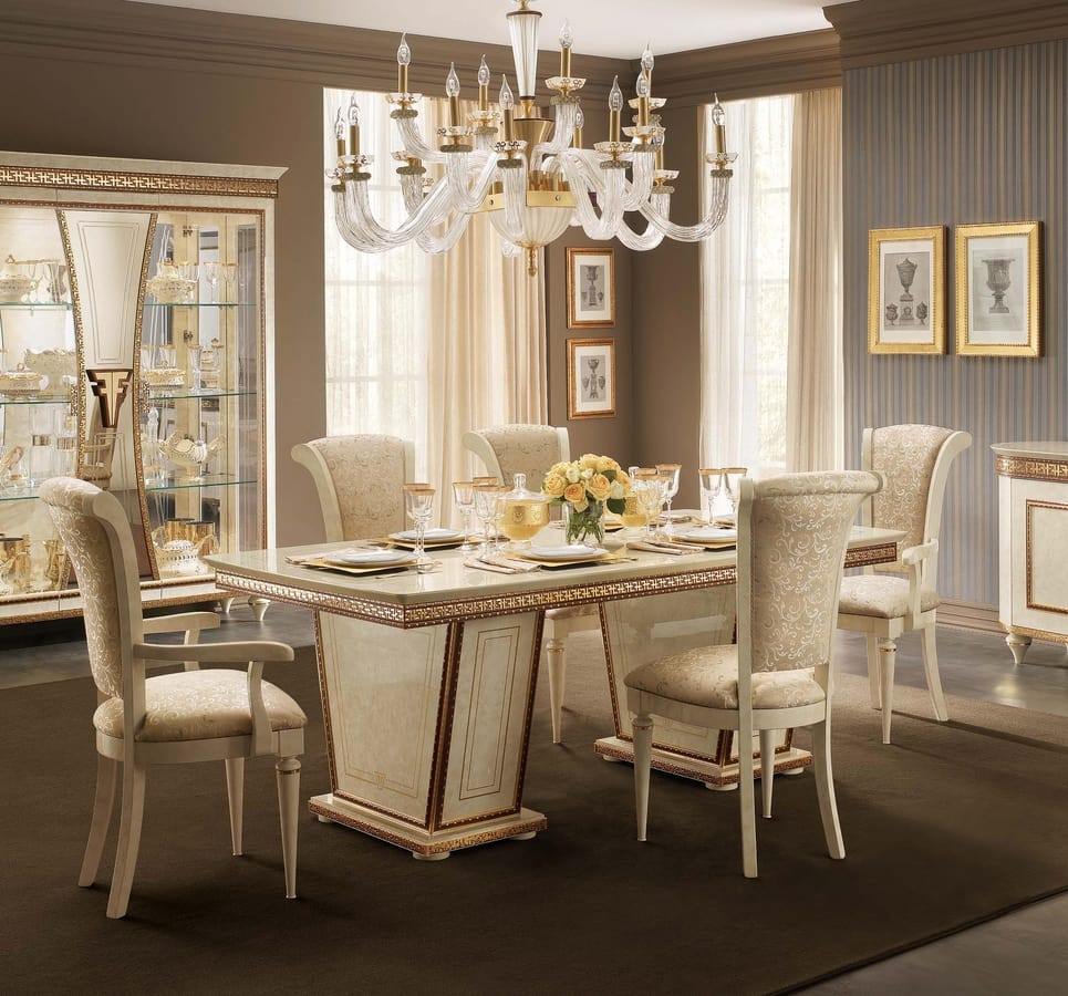 Elegante mesa de comedor, extensible | IDFdesign