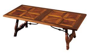 Fiesole ME.0891.2.F, Mesa de nogal con patas en forma de lira, para salas de estar