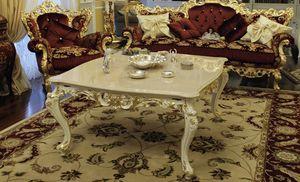 Firenze, Mesita para salón con encimera de mármol