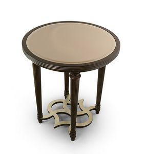 FLORA / mesa auxiliar con tapa redonda de espejo de bronce, Mesa auxiliar redonda elegante