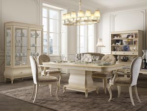 Florentia Mesa, Mesa de comedor de madera para muebles clásicos