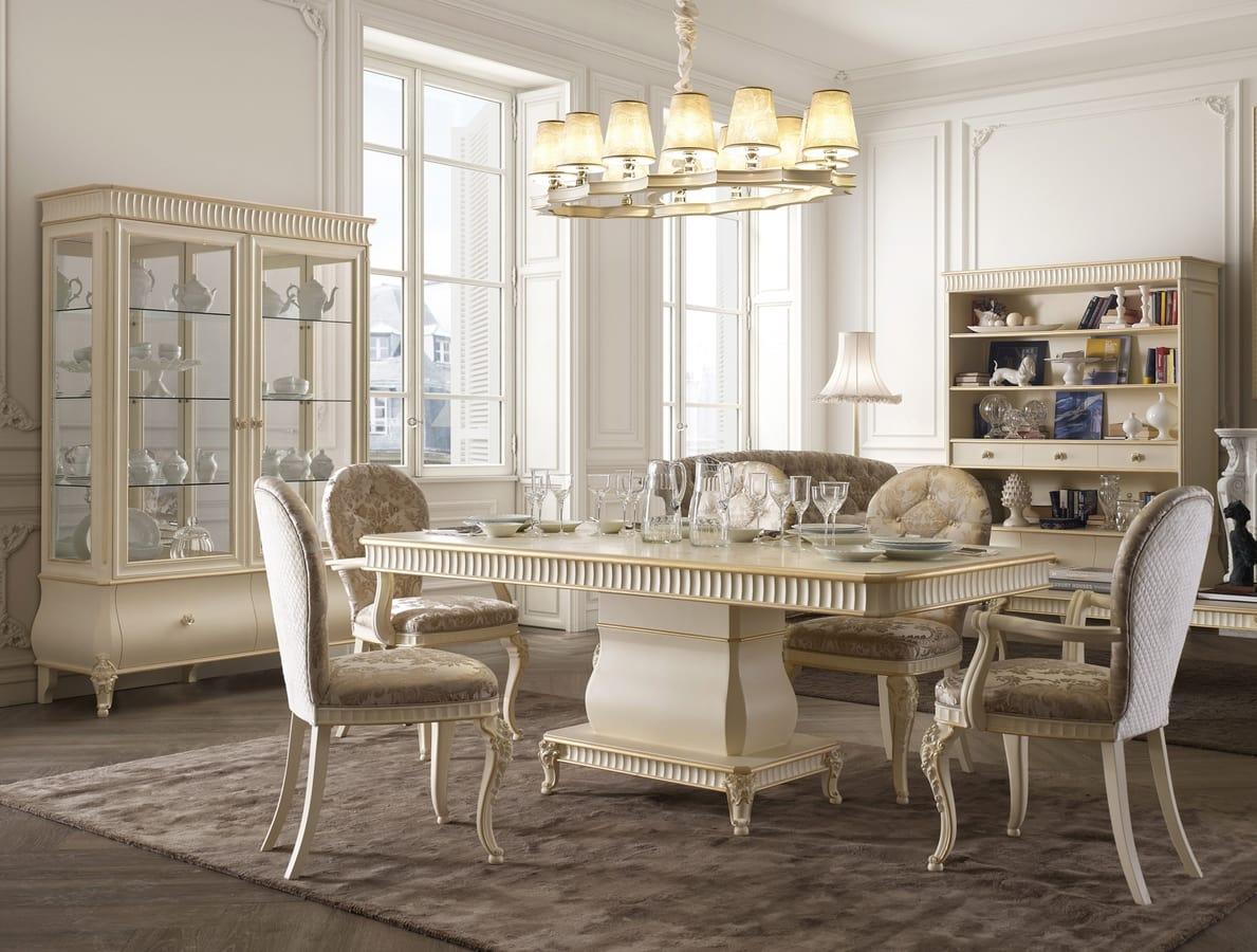 Mesa de comedor de madera para muebles clásicos | IDFdesign