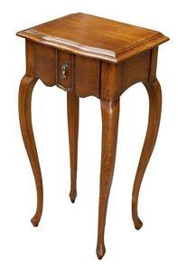 Gabriele FA.0140, Mesa de madera con un cajón, estilo clásico de lujo