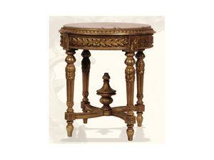 Guéridon art. 305, Guéridon hecho de madera con tapa de mármol, estilo Luis XVI