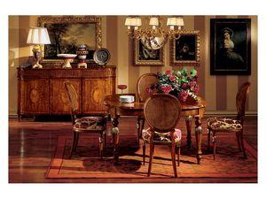 Hepplewhite table 742, Mesa cl�sico de lujo en madera para comedor