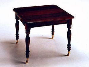 Herbert, Mesa extensible clásico chapados con madera de nogal, hecho a mano