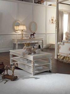 Honey mesa pequeña, Mesita rectangular con 3 pisos.