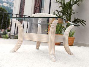 Ikarus mesa, Mesa clásica café contemporáneo, en vidrio y madera