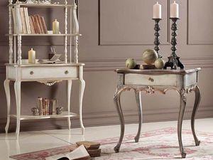 Loris Mesita, Mesa de centro clásica con cajones y tallas