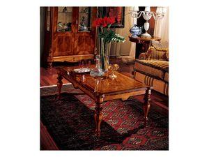 Marcus coffee table 771, Mesa de centro en madera tallada