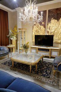 Mesa de centro 4973 estilo Luis XVI, Mesa de centro con encimera de mármol
