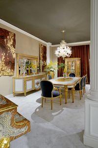 Mesa de comedor 1443 estilo Luis XVI, Mesa de comedor de lujo