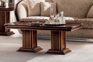 Modigliani mesa de centro rectangular, Mesita clásica para salón