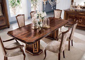 Modigliani mesa rectangular, Mesa de comedor de estilo imperio
