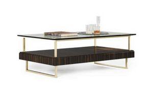 New York mesa, Mesa de centro de estilo moderno con tapa de cristal