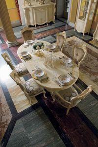 Opera mesa ovalada, Mesa de comedor ovalada, estilo clásico