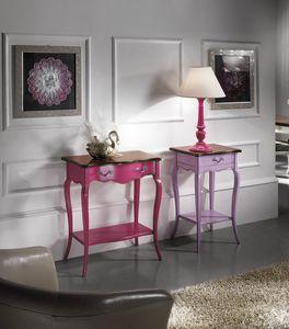 Portalámparas lila del siglo XVIII, Mesa portalámparas Style
